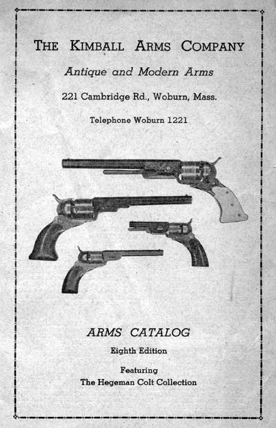 Kimball Arms Catalog